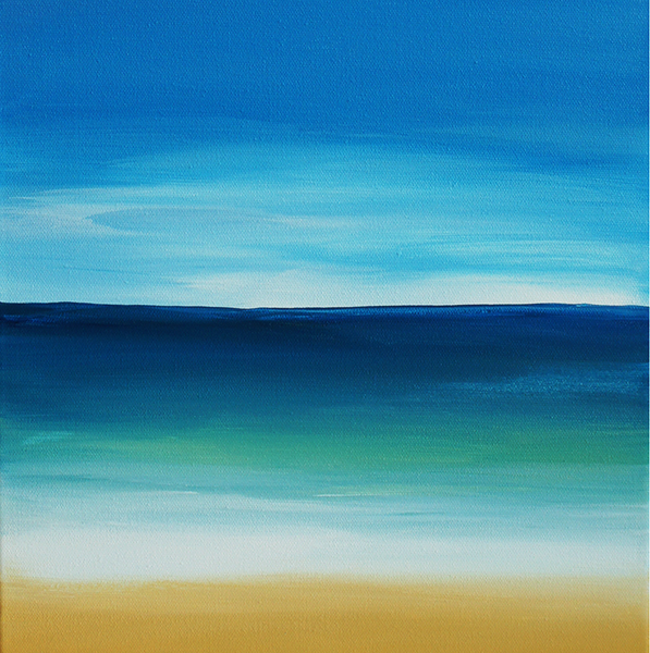 the gallery for gt easy landscape painting beach
